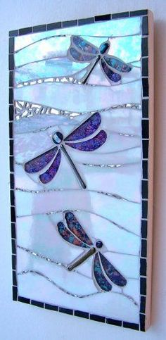 Dance of the Dragonflies - sold #StainedGlassMosaic