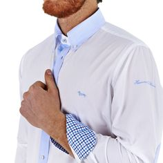 Cotton shirt with patches - White - Harmont & Blaine Online Store