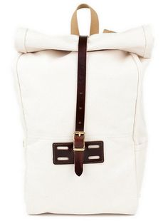 American-Made Bags: The Backpack  Take this roll-top rucksack for quick jaunts outside the city