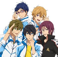 Find images and videos about cute, anime and handsome on We Heart It - the app to get lost in what you love. Dark Fantasy, Nagisa Free, Rin Matsuoka, Makoto Tachibana, Thriller, Maou Sama, Swimming Anime, Splash Free, Free Eternal Summer