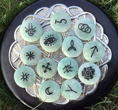 Sale! Wicked Green Witch's Runes set in Aventurine (set of 13)