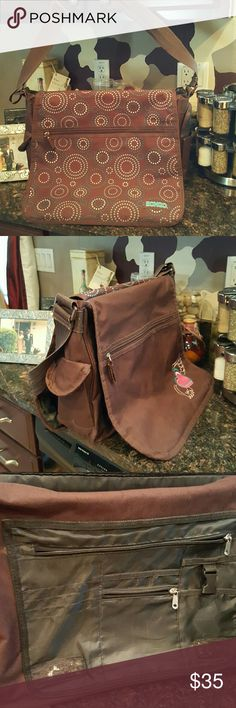 Double Sided Bag .. Multi Purpose Bag/Every day use..or book bag..ior Baby Bag...Use for work..Laptop..slightly used. Bags Shoulder Bags