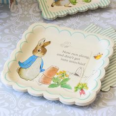 """Peter Rabbit Party 10"""" Plates by Beau-coup"""
