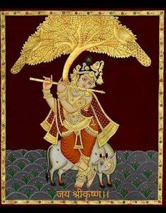 Krishna Hindu, Tanjore Painting, Sai Baba, Paintings, India, Christmas Ornaments, Holiday Decor, How To Make, Home Decor