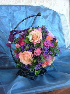 Wedding flowers, Pomander Ball, Flower Girl.