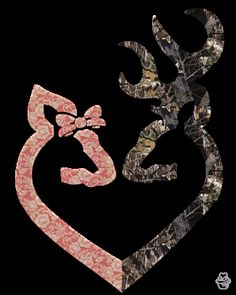 Maybe Put Flowers Behind One And The Deer Be Brown Then Put It By My Nightstand Then For His, The Same But Camo!