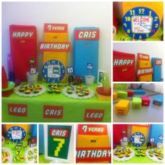 Lego Party Theme - party stationery design