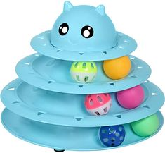 Amazon.com : UPSKY Cat Toy Roller 3-Level Turntable Cat Toy Balls with Six Colorful Balls Interactive Kitten Fun Mental Physical Exercise Puzzle Toys. : Kitchen & Dining Physical Fitness, Physical Exercise, Happy Kitten, Track Roller, Interactive Cat Toys, Kitten Toys, Catnip Toys, Funny Toys, Cat Scratcher
