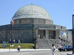 The Adler Planetarium was founded in 1930 by Chicago business leader, Max Adler. It is located on the northeast tip of Northerly Island at the shore of Lake Michigan in Chicago, Illinois. Chicago Hotels, Chicago Attractions, Chicago Museums, Chicago Map, Local Museums, Chicago Illinois, Chicago Activities, My Kind Of Town, Lake Michigan