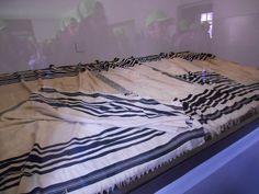 Block 5. Jewish prayer shawls which belonged to the victims of Auschwitz.