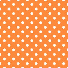Orange and White Polka Dots - Background Labs