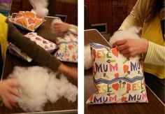 Brownies Making Cushions - their own designs printed by Print Me Pretty Custom Printed Fabric, Printing On Fabric, Diy Cushion, Cushions To Make, Creative Kids, Design Your Own, Paper Shopping Bag, Make Your Own, Brownies