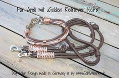 Hundehalsband mit Ohr-Tunnel Auf diese Idee kam ich zusammen mit meiner Schweizer Kundin Heidi genau vor einem Jahr. Diesmal sollte es eine neue Halsbandkreation mit großen Perlen werden und wir suchten gemeinsam in Netz nach Großlochperlen.