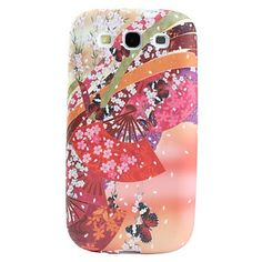 Flowers and Butterfly Pattern Soft Case for Samsung Galaxy S3 i9300