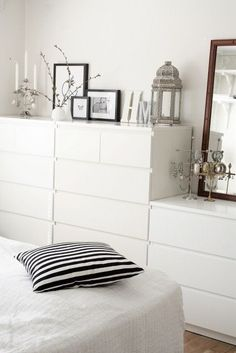 25 Minimalist Bedroom Styling Ideas for White Interiors is part of Ikea bedroom Storage - Decorating and styling ideas that will definitely keep your bedroom cozy and stylish Ikea Bedroom, Bedroom Interior, Bedroom Storage, Interior, Minimalist Bedroom, White Interior, Home Decor, Bedroom Furniture, Home Bedroom
