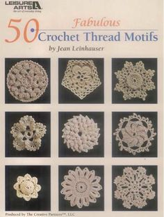 From circles to squares and hearts tofans, this book by Jean Leinhauser offers a fabulous collection of 50individual motifs to crochet. Although the motifs are shown made insize 10 bedspread-weight cotton, you can choose the weight and type ofthread that best suits your taste. Use the motifs as appliques to adornclothing and linens or join them together to create placemats,bedspreads, or tablecloths. The choice is yours! Motifs include Pineapple P