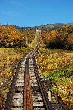 Mount Washington Cog Railroad Railway to New Hampshire #NewEngland
