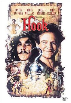 Hook on DVD from Sony Pictures Home Entertainment. Directed by Steven Spielberg. Staring Dustin Hoffman, Bob Hoskins, Julia Roberts and Robin Williams. More Action, Fantasy and Family DVDs available @ DVD Empire. Cinema Tv, Films Cinema, I Love Cinema, Robin Williams, Old Movies, Great Movies, 2015 Movies, See Movie, Movie Tv
