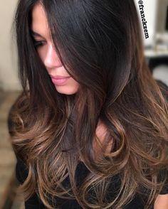 "CITIES BEST HAIR ARTISTS on Instagram: ""Gorgeous Brunette ❤️ Painted By @franckzem"""