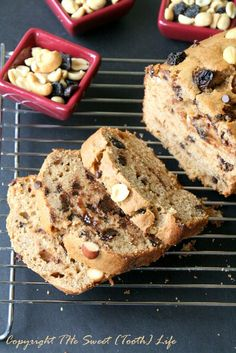 Whole Wheat Trail Mix Banana Bread