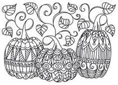 Pumpkin to color Craft Adult coloring and Thanksgiving
