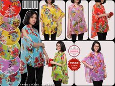 Cut Out Sleeve Batwing Floral Shirt + Free inner  Price : Rp 88.000 Brand : Forever 8 Code : F2687 Material : sifon Cerutti bunga + tanktop Size : allsize, fit S - XL Blouse Lingkar dada (bust) : free / loose Panjang (length) : front 73 cm , back 77 cm Inner tank top (fit to L) Lingkar dada (bust) : 78-90 cm Panjang (length) : 55 cm