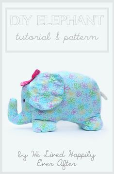 Stop by www.fabric.com for the perfect flannel and materials to create this adorable elephant