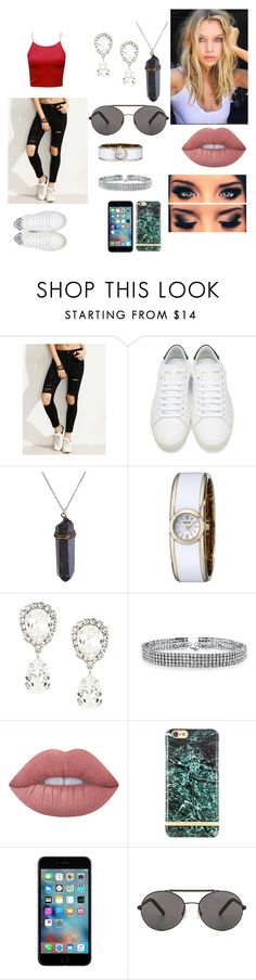 """ROGUE"" by fatherfrey on Polyvore featuring moda, Yves Saint Laurent, Caravelle by Bulova, Dolce&Gabbana, Bling Jewelry, Lime Crime, Richmond & Finch y Seafolly"