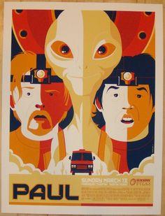 """2011 """"Paul"""" - Silkscreen Movie Poster by Tom Whalen"""