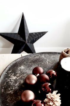 Copper Christmas | &SUUS | ensuus.blogspot.nl | Copper, Black/White and wood XMAS