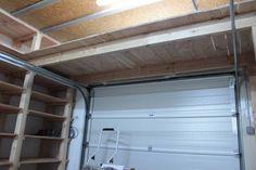 étagère au dessus porte de garage