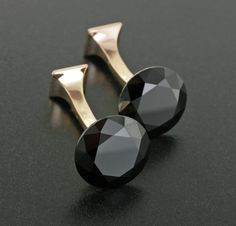 Black Spinel and 18K Rose Gold Cufflinks by James de Givenchy #Taffin #JamesdeGivenchy #Cufflink