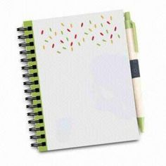 Customized Logo PP Cover Notebooks with Pens