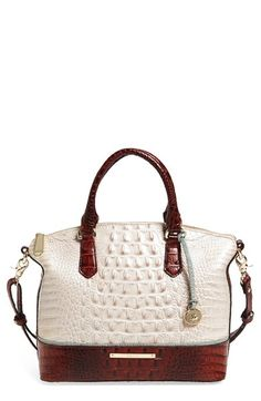 Brahmin 'Duxbury' Bicolor Croc Embossed Leather Satchel available at #Nordstrom