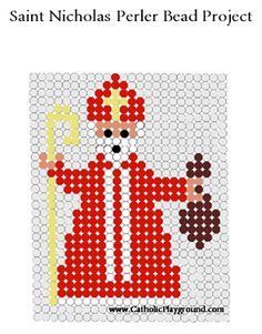 saint nicholas perler bead project