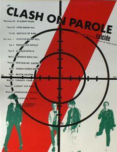 "Reproduction ""The Clash - On Parole"" Concert Poster, Home Wall Art Joe Strummer, The Clash, New Wave, Concert Rock, Punk Poster, Gig Poster, The Future Is Unwritten, British Punk, Mick Jones"