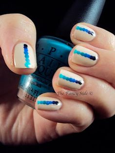 A Study in Blues - The Ombre Dotticure