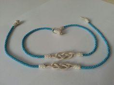 Handmade silver blue Wristbands kazaziye