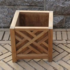 "Regal Teak Chippendale Teak Planter Box Size: 15"" H x 15"" W x 15"" D"