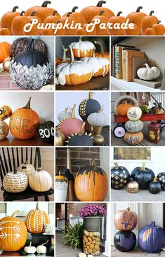 Tons of ideas for decorating pumpkins!!!