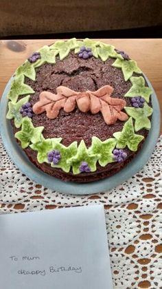 November birthday cake. Chocolate.