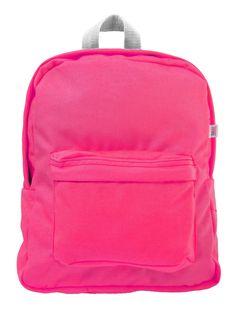 kids backpack • florescent pink • american apparel • $28