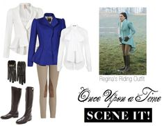 """Scene It! Regina's OUaT Riding Outfit"" by stuffnthings ❤ liked on Polyvore"