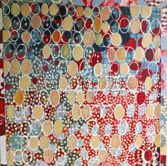 'the never-ending present tense'  acrylic on linen - 90 cm sq    Sophie Munns: homage to the seed Facebook page
