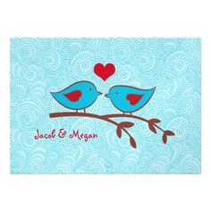 Save the dates...   i like this one a lot because its simple and cute.  pattern background. Love Birds Wedding Invitation Template