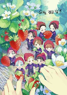 Find images and videos about cute, kpop and exo on We Heart It - the app to get lost in what you love. Kpop Fanart, Chibi Exo, Baekhyun, Exo Cartoon, Exo Anime, Exo Lockscreen, Exo Fan Art, Boys Anime, Exo Do