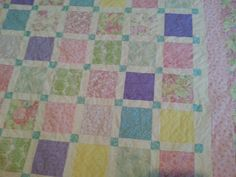 queen size pastel quilt by 4quiltsandmore on Etsy, $199.00