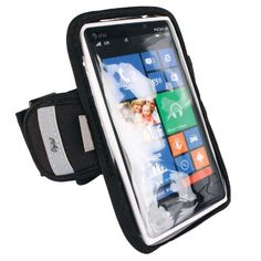 "High Grade Nokia Lumia 900 / 920 / 925 / 928 / 929 Mobile Phone Water Resistant Exercise Sports Gym Armband (For Use with Skin, Bumper or Hard Case Protector). This durable, lightweight armband case keeps your phone secure and protected. Our ""Digital"" Armband fits your mobile phone right side up or upside down to read display easier while viewing on your arm, Full navigational control through clear, protective window cover. Durable and comfortable armband adjusts 9 to 17 inches to..."