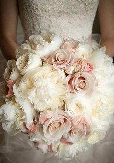 Romantic wedding bouquet.