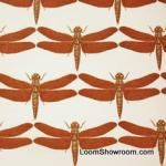 Thomas Paul rust orange dragonfly fabric- used on throw pillow in master bedroom
